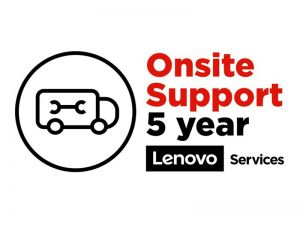 Lenovo Onsite Upgrade - extended service agreement - 5 years - on-site