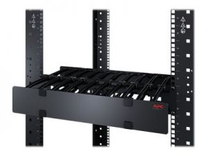 APC Horizontal Cable Manager Single-Sided with Cover rack cable management panel with cover - 2U